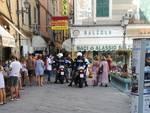 """Alassio, la polizia in moto tra le bancarelle di """"Saldiinbanco 2018"""""""
