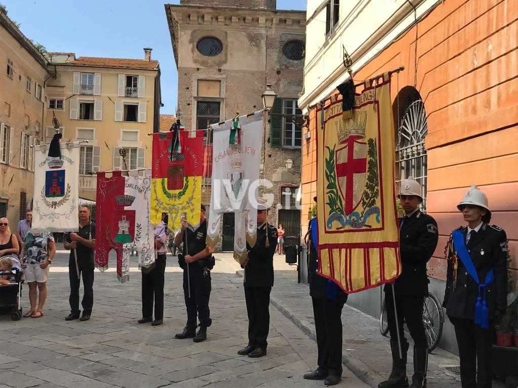 Albenga, cerimonia in ricordo delle vittime di Genova