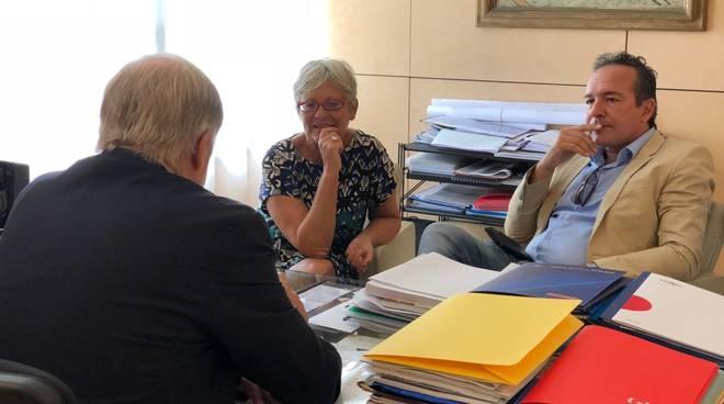 annamaria furlan a genova incontra Toti e Bucci