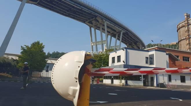 Ansaldo Energia sotto ponte Morandi