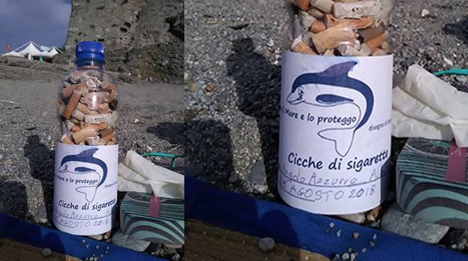 bottiglia sigarette mozziconi cicche assonautica ciccheinbottiglia