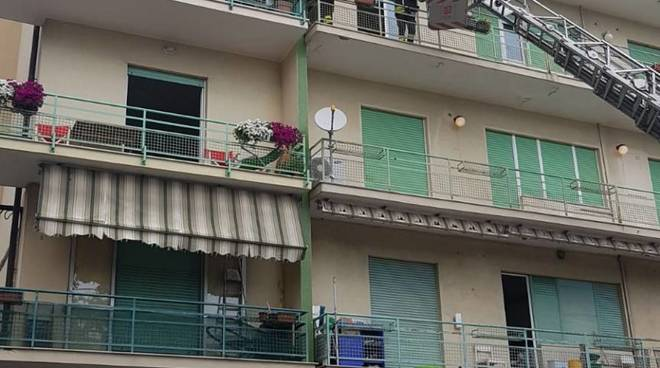 cane abbandonato balcone