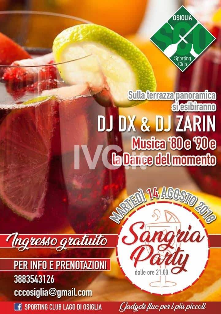 Sangria Party con Dj Zàrin e Dj Dx
