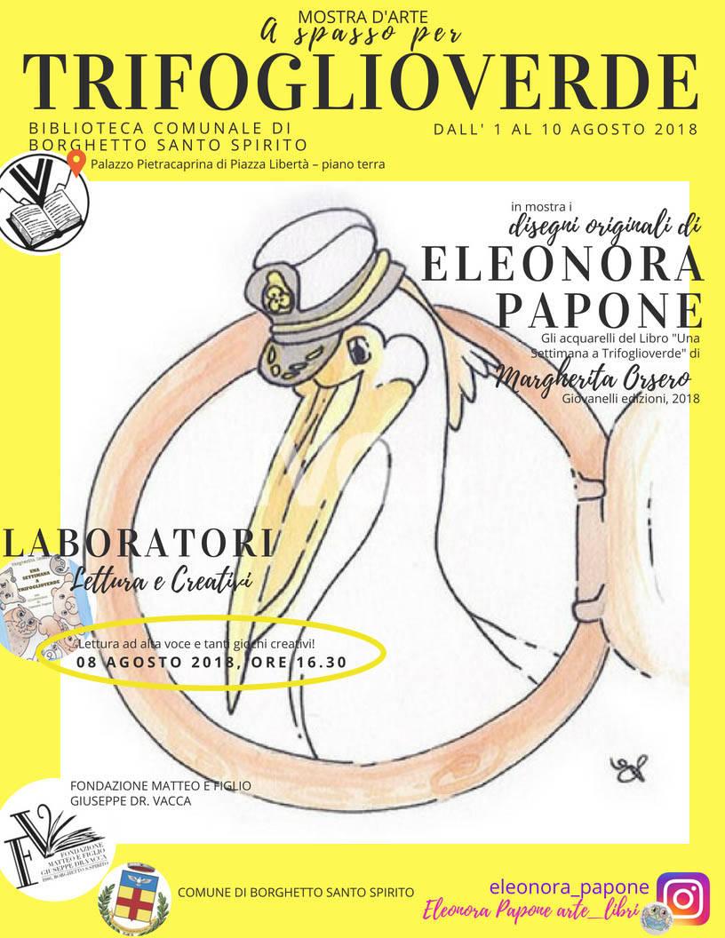 Laboratorio di lettura ad alta voce e lavoretti creativi a tema TRIFOGLIOVERDE animato da Margherita Orsero ed Eleonora Papone