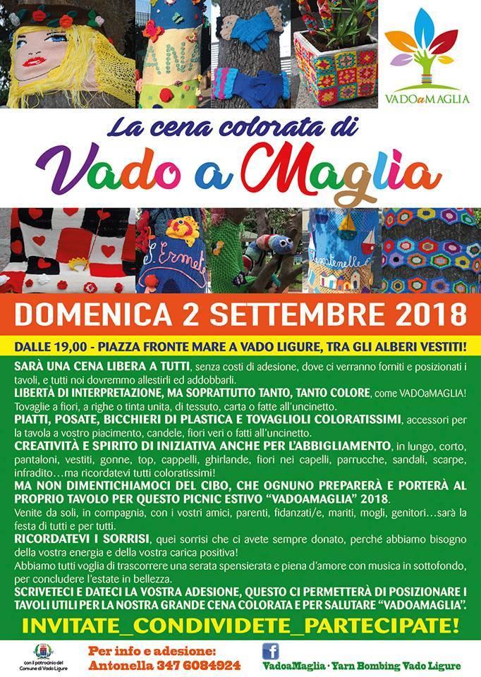 """Cena colorata """"Vado a Maglia"""" 2018"""