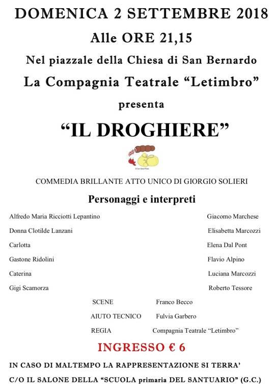 """Compagnia Teatrale Letimbro """"Il droghiere"""" settembre 2018"""