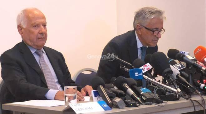 conferenza stampa autostrade dopo ponte morandi per grande apertura