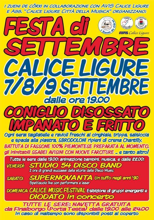 Festa di Settembre Calice Ligure 2018