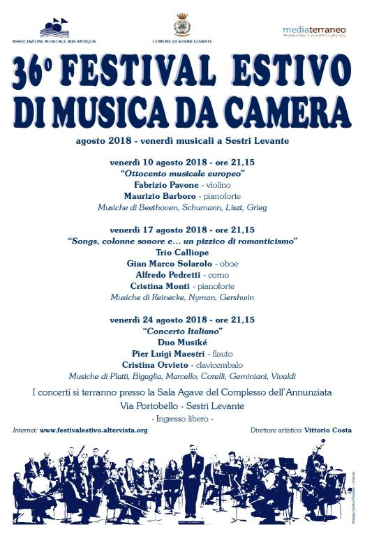 Festival Estivo di Musica da Camera 2018