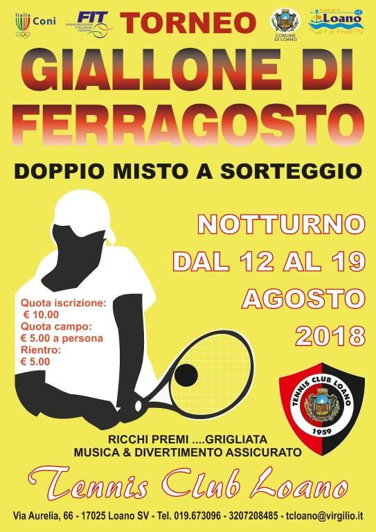 Giallone di Ferragosto Tennis Club Loano