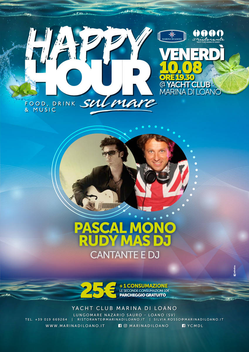 Happy Hour sul Mare Pascal Mono e Rudy Mas Dj