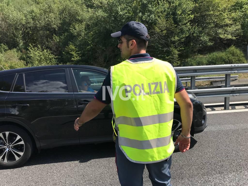 incidente a10 generica polizia stradale