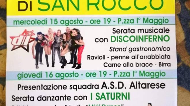 """""""L'Estate di San Rocco"""" Altare 2018"""