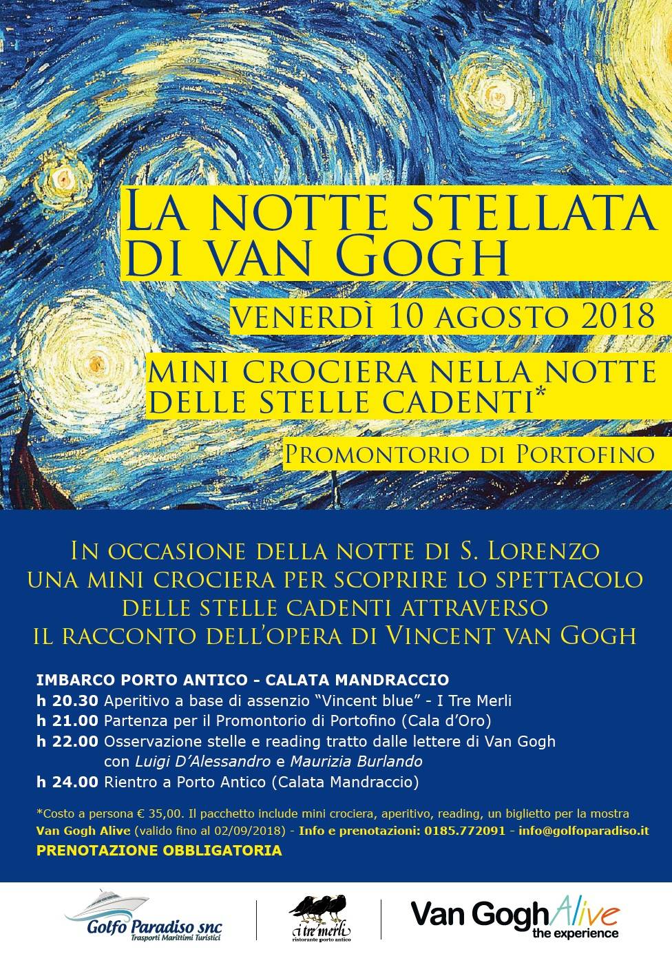 """""""La Notte Stellata di Van Gogh"""" crociera"""
