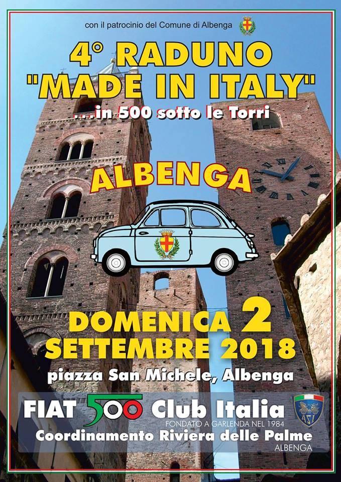 """Made in Italy sotto le torri"" raduno FIAT 500 Albenga 2018"