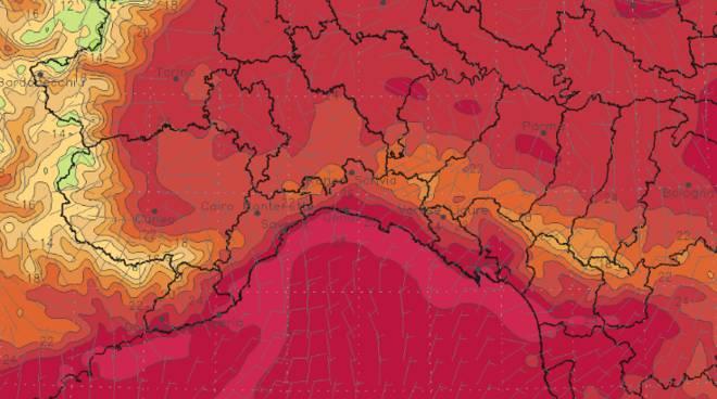Mappa temperature modello Moloch Italy