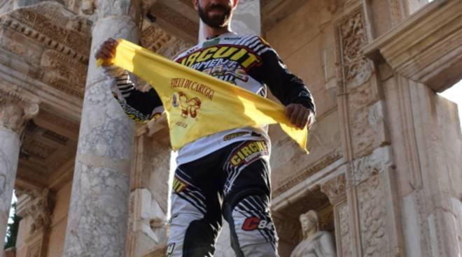 Maurizio Gerini sul podio del Transanatolia Rally