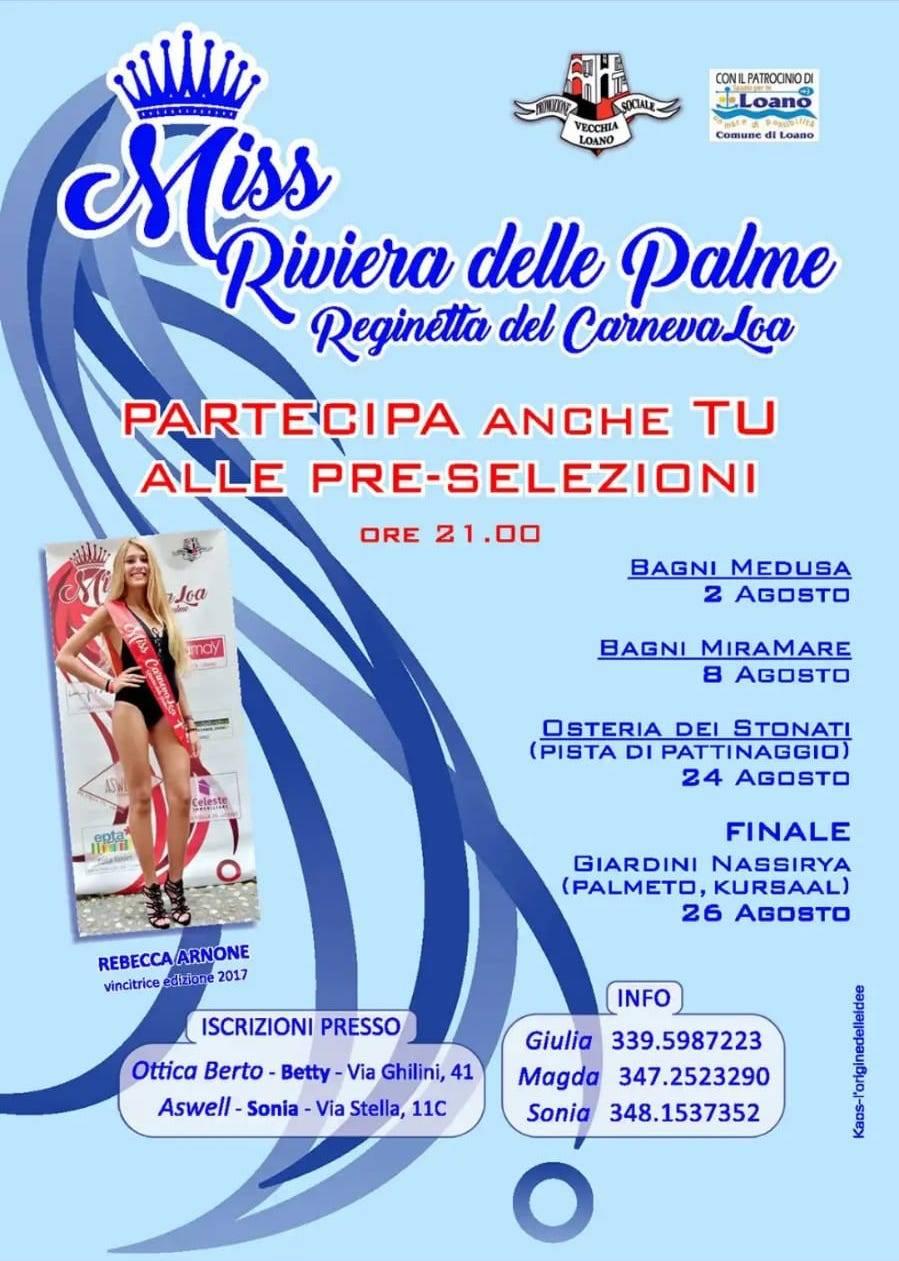 Miss Riviera delle Palme 2018