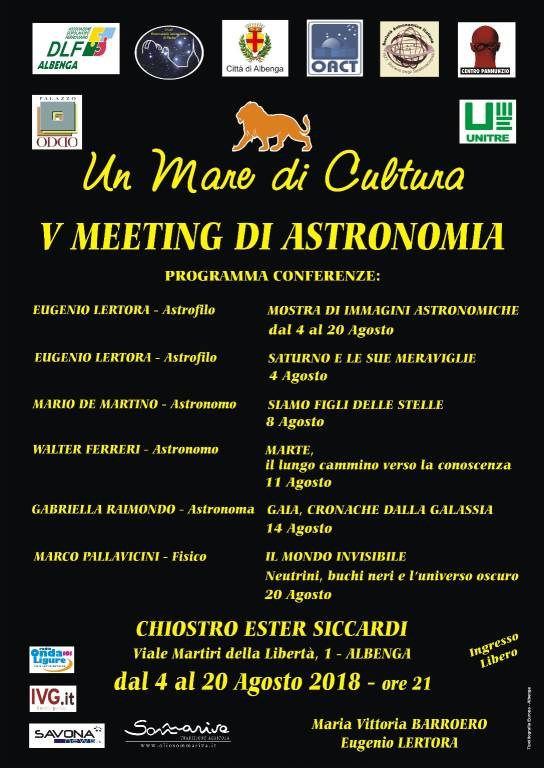 """Mostra fotografica """"Saturno e le sue meraviglie"""" Albenga"""