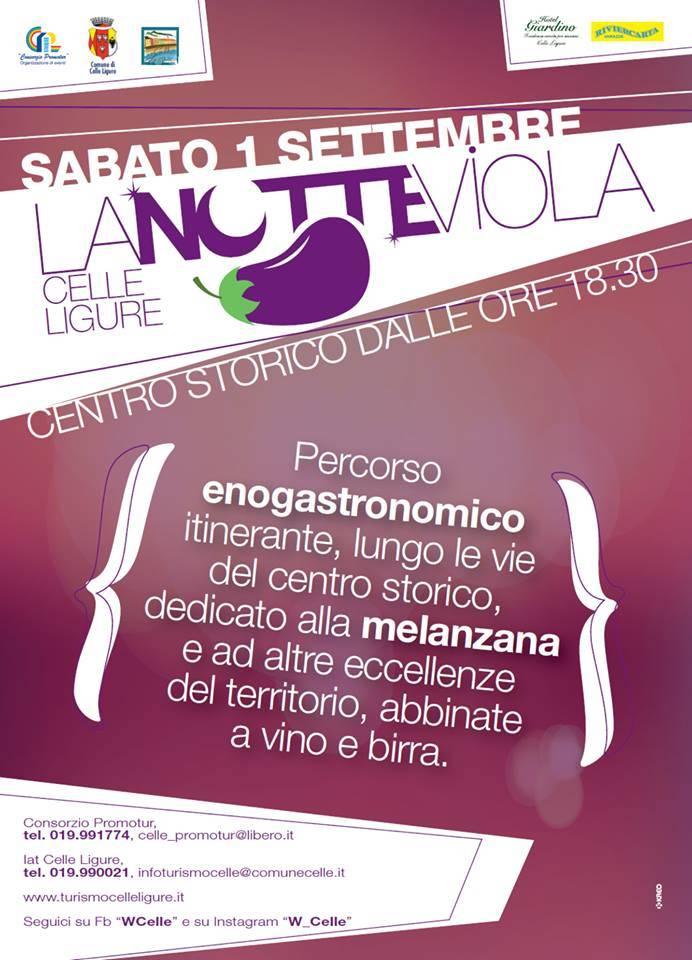 Notte Viola Celle Ligure 2018