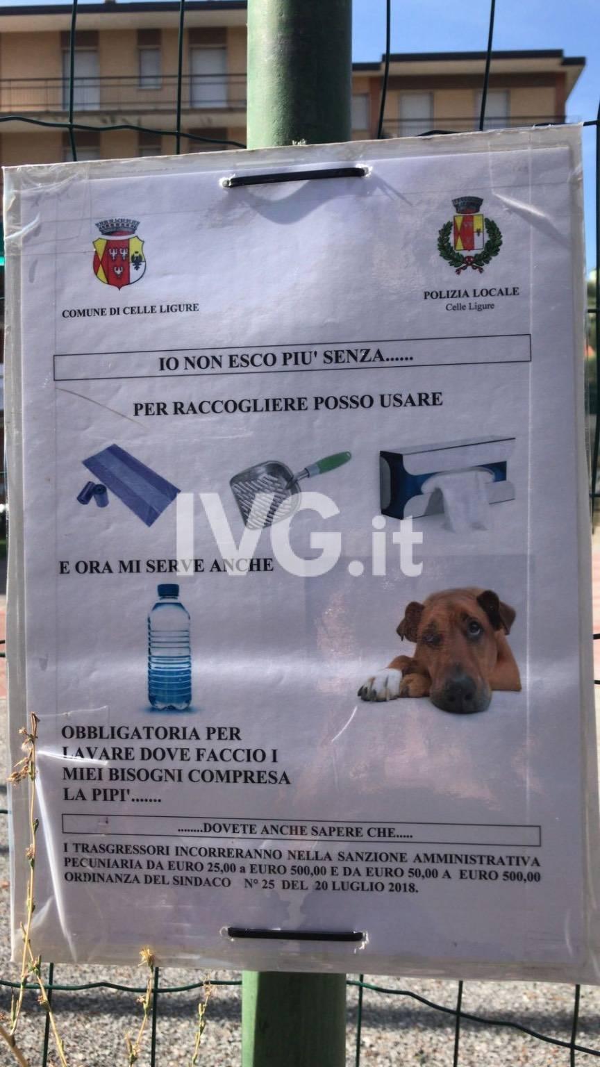 Ordinanza cani Celle Ligure