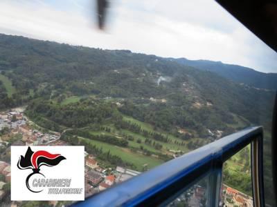 pattugliamento elicottero carabinieri forestali