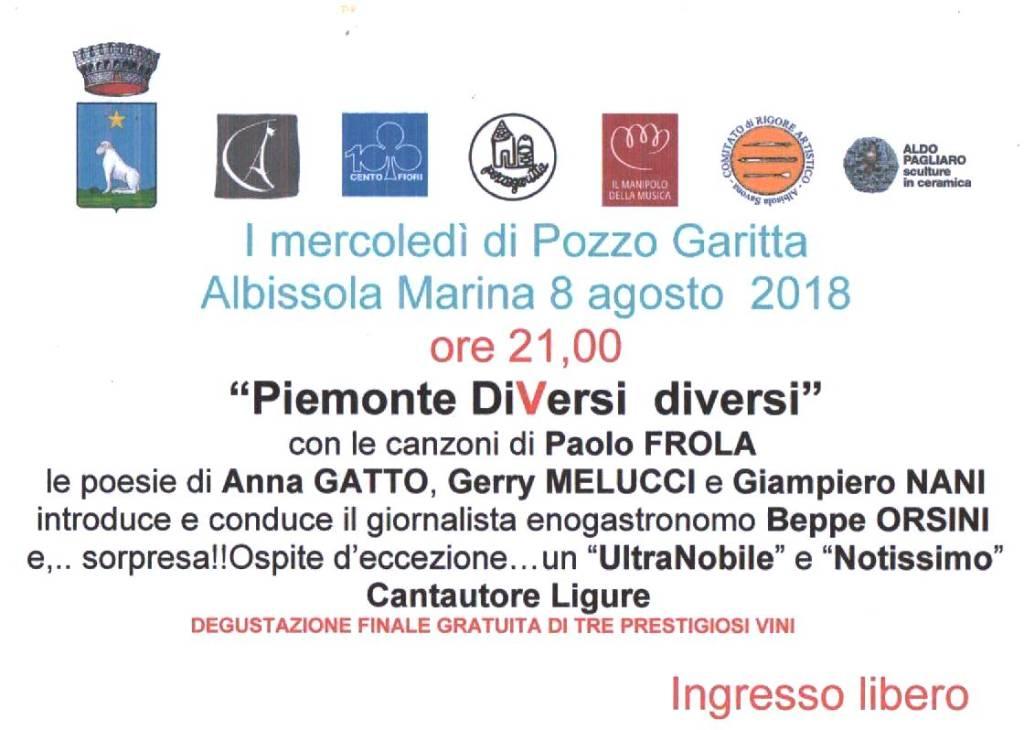 """""""Piemonte diVersi diversi"""" - Mercoledì di Pozzo Garitta"""