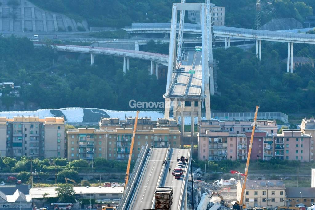 Ponte Morandi, quarto giorno di operazioni