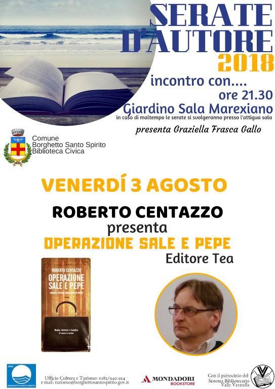 """Roberto Centazzo """"Operazione sale e pepe"""""""