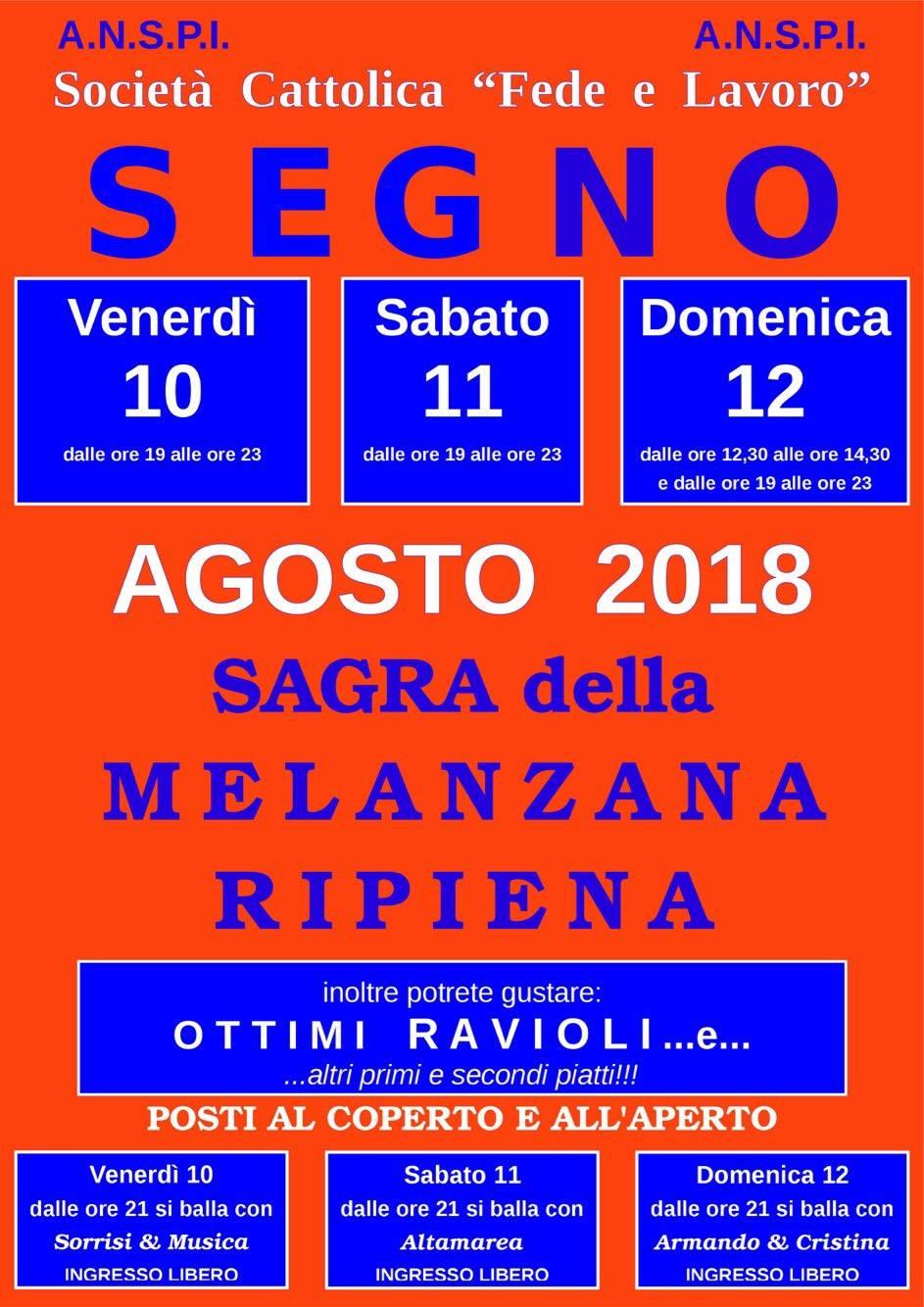 Sagra della Melanzana Ripiena Vado Ligure 2018