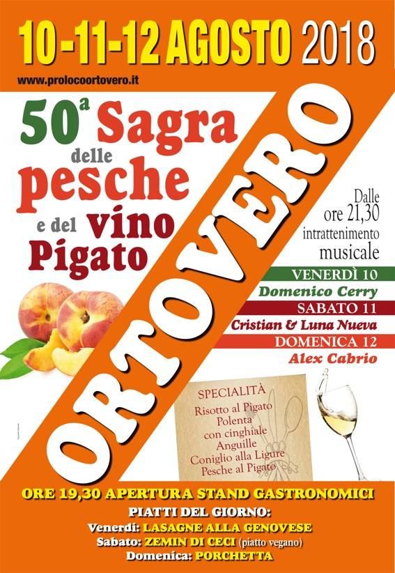 Sagra delle Pesche e del Vino Pigato 2018