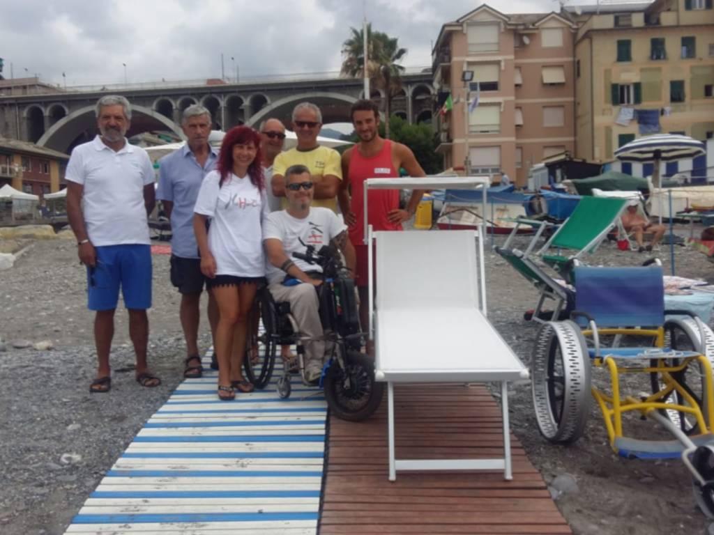 spiaggia sori disabili