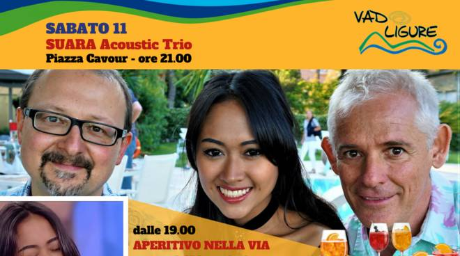 SUARA Acoustic Trio concerto e apericena