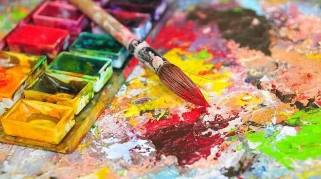 tavolozza pittura arte