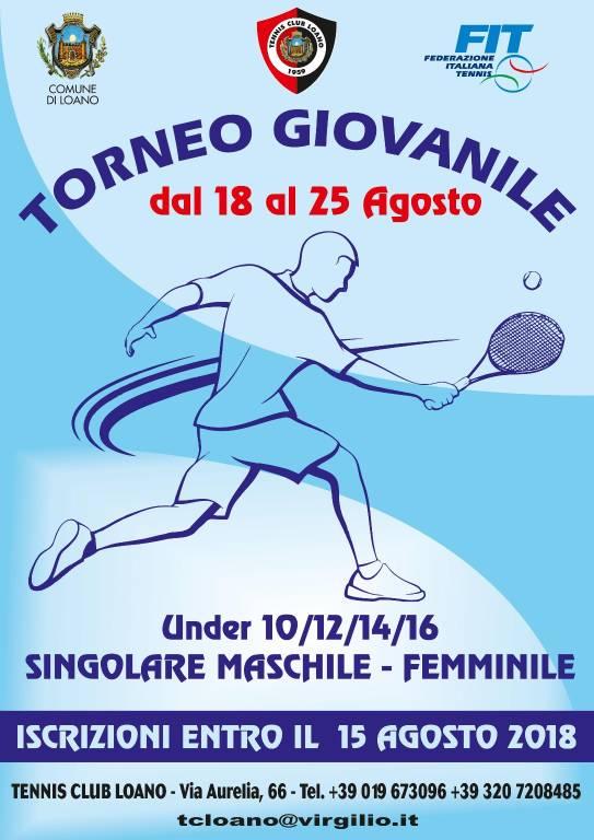 Torneo singolare maschile e femminile 2018 Tennis Club Loano
