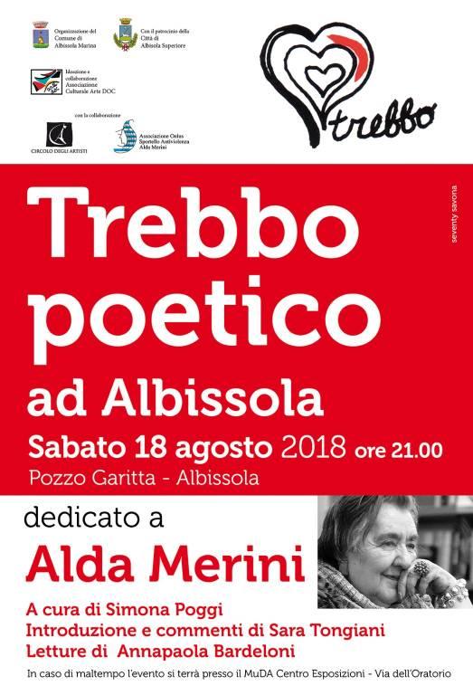 """""""Trebbo Poetico"""" 2018 Alda Merini"""