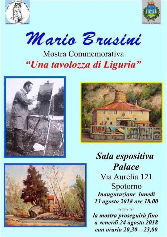 """""""Una tavolozza di Liguria"""" mostra commemorativa di Mario Brusini"""