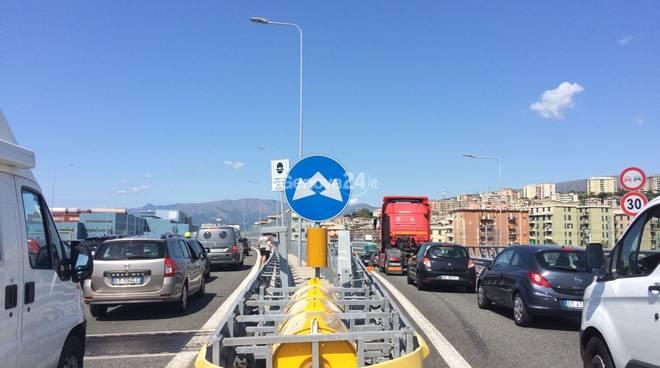 Viabilità a Cornigliano dopo il crollo