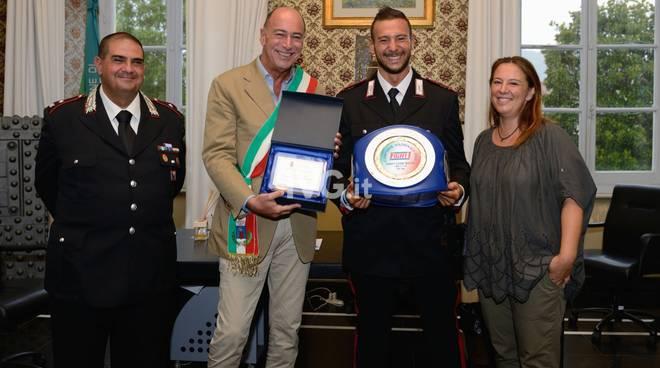 Vittorio Iermano premiato in Comune ad Alassio