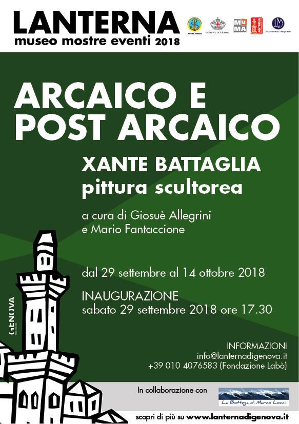 """Arcaico e post arcaico"" Xante Battaglia Lanterna Genova"