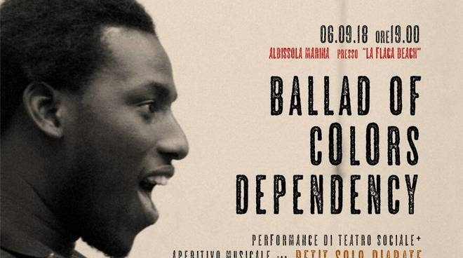 """Ballad of colors dependency"" performance teatro sociale immigrazione"