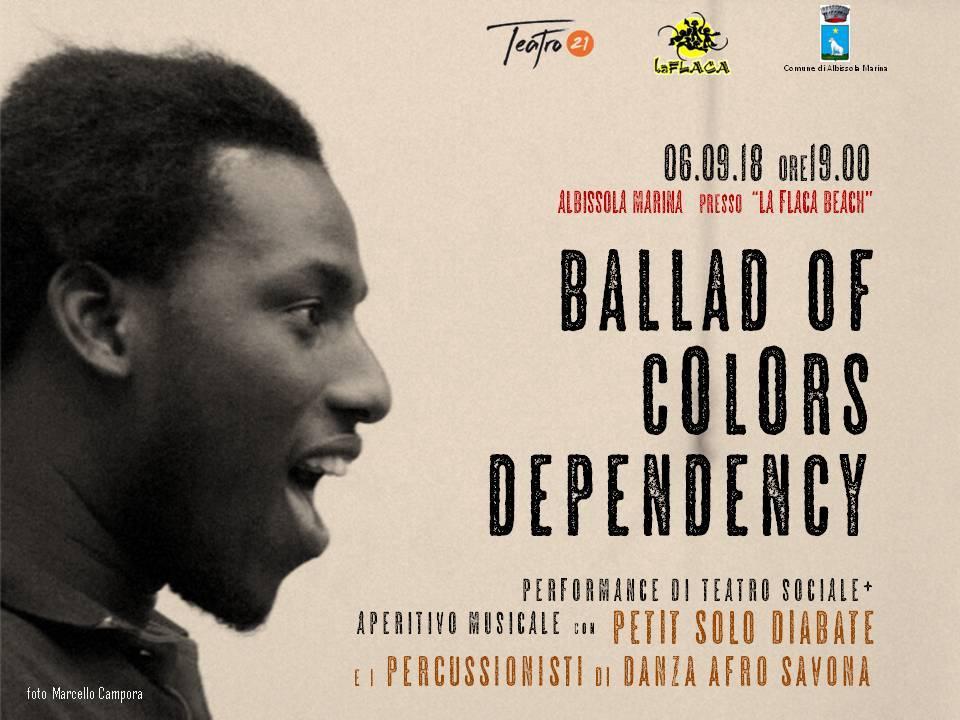 """Ballad of colors dependency"" performance teatro sociale immigrazione"