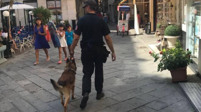 carabinieri cani Alassio