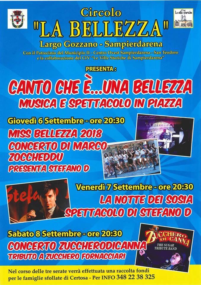 """Tre giorni di musica e spettacolo in Largo Gozzano: San Pier d\' Arena prova e riscoprirsi \""""normale\""""."""