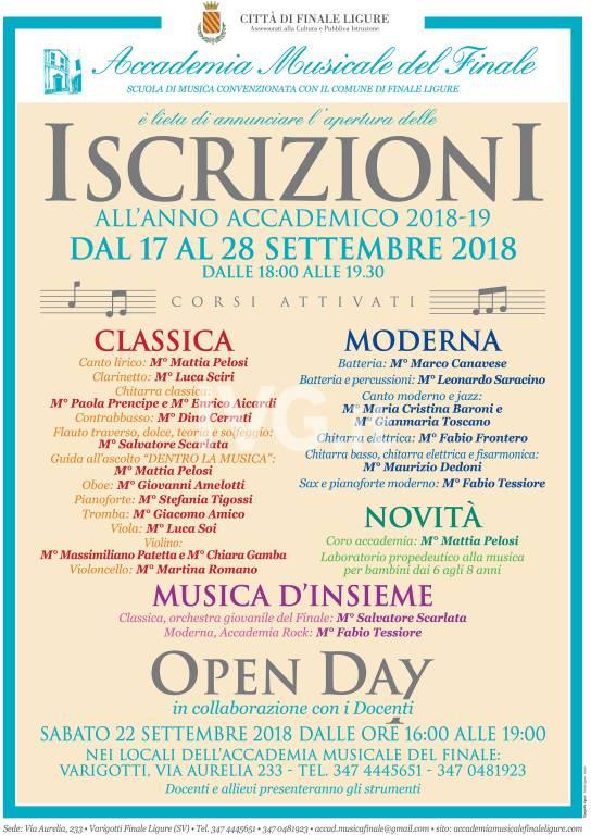 Open Day Inizio Nuovo Anno Accademico