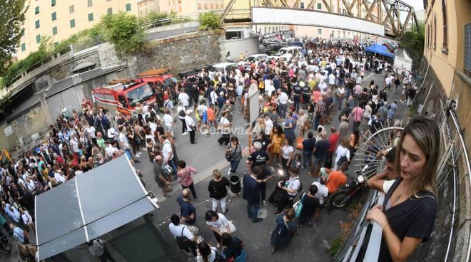 Commemorazione crollo Ponte Morandi via Fillak