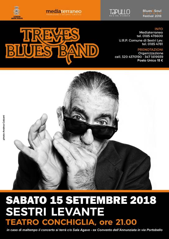 Concerto Treves Blues Band settembre 2018