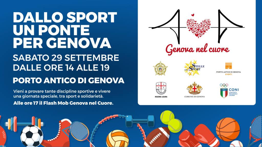Dallo Sport un Ponte per Genova