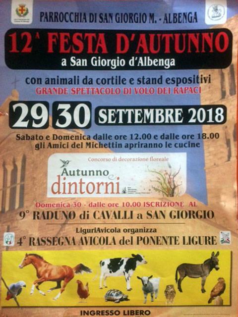 Festa d'Autunno 2018 San Giorgio d'Albenga