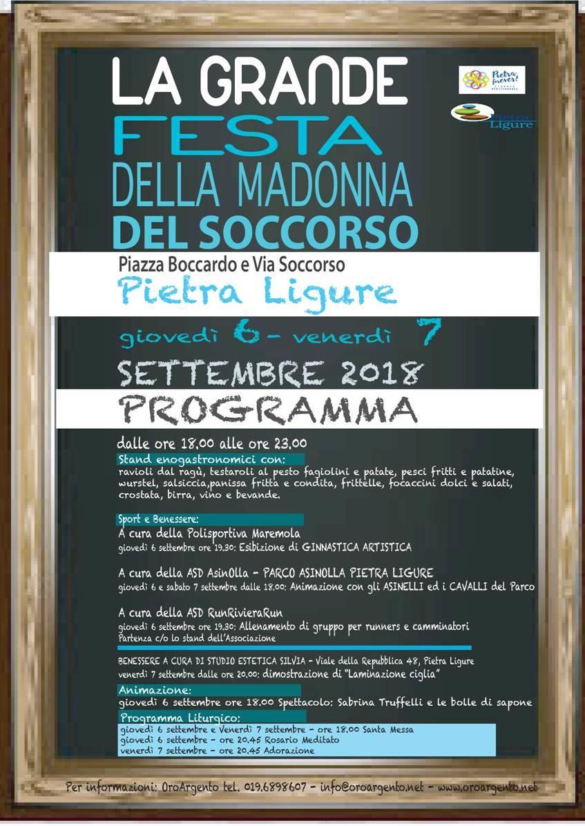 Festa Madonna del Soccorso Pietra Ligure 2018